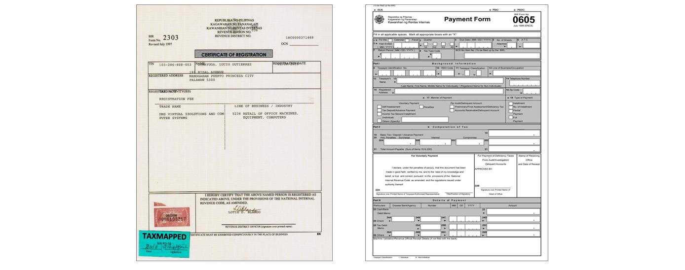 BIR Forms 2303 and 0605